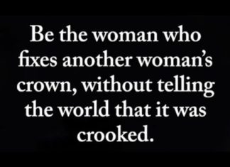 Be The Woman Who Fixes Another Woman's Crown